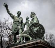 El monumento a Minin y a Pozharskij imagen de archivo libre de regalías