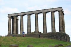 El monumento nacional de Escocia, en la colina de Calton en Edimburgo Fotos de archivo