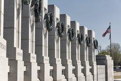 El monumento nacional de la Segunda Guerra Mundial en Washington Imágenes de archivo libres de regalías