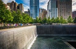 El monumento nacional del 11 de septiembre, en Manhattan, Nueva York Fotos de archivo libres de regalías