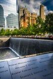 El monumento nacional del 11 de septiembre, en Manhattan, Nueva York Imagenes de archivo