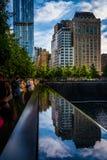 El monumento nacional del 11 de septiembre, en Manhattan, Nueva York Fotos de archivo
