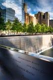 El monumento nacional del 11 de septiembre, en Manhattan, Nueva York Imágenes de archivo libres de regalías