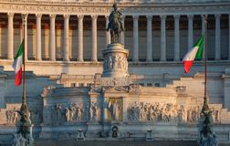 El monumento nacional a Victor Emmanuel II, Roma, Italia Imagen de archivo