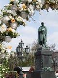 El monumento a Pushkin Fotos de archivo