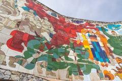 El monumento Soviet-georgiano de la amistad, Georgia imágenes de archivo libres de regalías