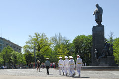 El monumento a Taras Shechenko en Kharkov Imágenes de archivo libres de regalías
