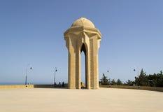El monumento y el callejón, Baku del Martyrers Foto de archivo libre de regalías