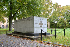 El monumento a y el x22; WALDAU 1914-1918& x22; cuáles han fallecido en días de Primera Guerra Mundial Foto de archivo