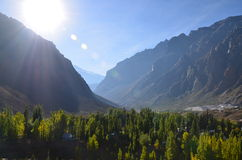 El Morado Chile. Chilean valley of El Morado Stock Photos