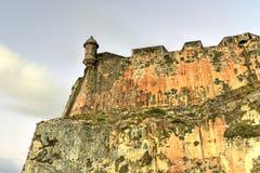 El Morro城堡, San Juan,波多里哥 免版税库存照片