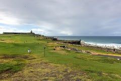 El Morro城堡, San Juan,波多里哥 库存照片
