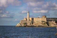 El Morro城堡-哈瓦那,古巴 免版税图库摄影
