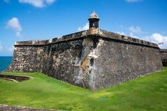 El Morro堡垒。 库存图片