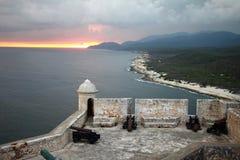El Morro堡垒古巴 免版税库存照片