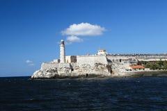El Morro堡垒在哈瓦那古巴 免版税库存图片