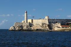 El Morro堡垒在哈瓦那古巴 库存照片