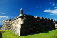 El Morro本营在圣胡安 免版税库存照片