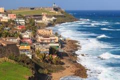El Morro堡垒在圣胡安,波多黎各 免版税库存照片