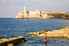 EL Morro, Avana, Cuba Immagini Stock