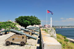 El morro cabana forts in Havana. El morro cabana forts in Havana, Cuba Royalty Free Stock Photo