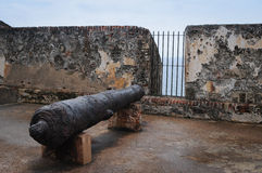 El Morro Canon - Puerto Rico Royalty Free Stock Photography