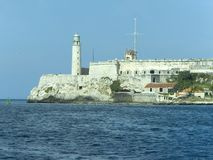 El morro castle in Havana. El morro castle and lighthouse at the entrance of the Havana Bay Stock Photography