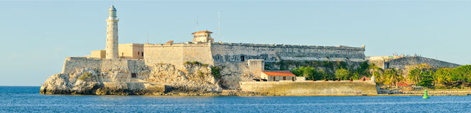 El Morro castle and lighthouse in Havana Royalty Free Stock Photo