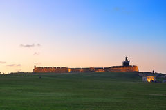 El Morro castle at old San Juan Stock Photography