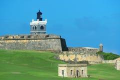 El Morro castle at old San Juan. Puerto Rico royalty free stock photos