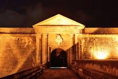 El Morro castle at old San Juan. Puerto Rico at night stock photo