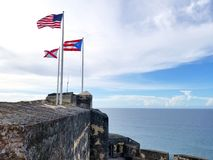 El Morro castle at old San Juan, Puerto Rico. Royalty Free Stock Photography