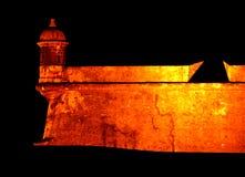 El Morro Fort. San Felipe El Morro fort at night in San Juan, Puerto Rico Stock Photos