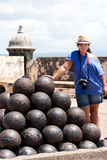 El Morro Fort Canon Balls Royalty Free Stock Image