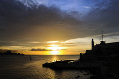 El Morro Fort in Havana bay entrance Stock Images