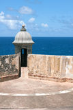 El Morro Fort Sentry Watchtower Stock Photography