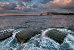 El Morro fortress in Havana bay entrance royalty free stock image
