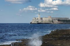 El Morro Fortress in Havana, Cuba Royalty Free Stock Photo