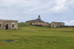 El Morro Grounds and Fortress royalty free stock photography