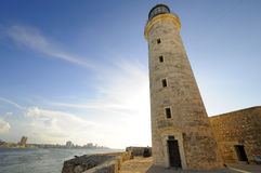 El Morro lighthhouse in Havana bay entrance Stock Photos