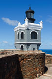El Morro Lighthouse. (El faro del Morro) in Old San Juan, Puerto Rico Stock Photo