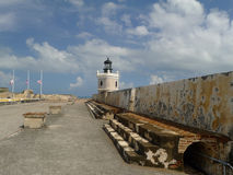 The El Morro Lighthouse Stock Photography