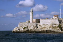 El morro lighthouse in Havana Royalty Free Stock Photos