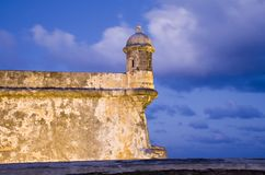 El Morro Old San Juan. On the tip of Old San Juan, Fort San Felipe del Morro. A 16th century citadel constructed to protect the town from attack by sea, El Morro Stock Images