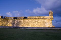 El Morro Old San Juan. On the tip of Old San Juan, Fort San Felipe del Morro. A 16th century citadel constructed to protect the town from attack by sea, El Morro Royalty Free Stock Photos