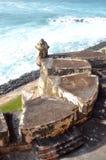 El Morro, Puerto Rico 1. A portion of the fort near old san juan in puerto rico at El Morro Stock Photo