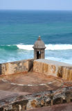 El Morro, Puerto Rico 2. A portion of the fort near old san juan in puerto rico at El Morro Stock Images