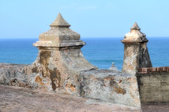 El Morro, Puerto Rico 3. A portion of the fort near old san juan in puerto rico at El Morro Royalty Free Stock Images