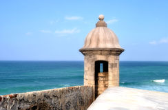 El Morro, Puerto Rico 6. A portion of the fort near old san juan in puerto rico at El Morro royalty free stock images