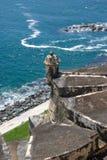 EL Morro - Puerto Rico de la fortaleza Imagen de archivo
